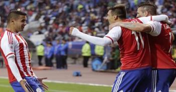 Paraguay celebrating