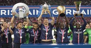 PSG treble win