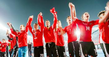 Austria celebrate