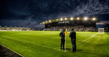 The impressive main stand at AFC Fylde