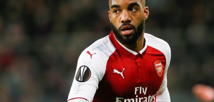 Lacazette playing for Arsenal